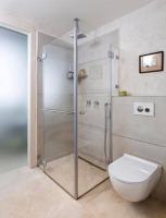 """מקלחון בעל 2 קיבועים ו-2 דלתות - ד""""ר זכוכית"""